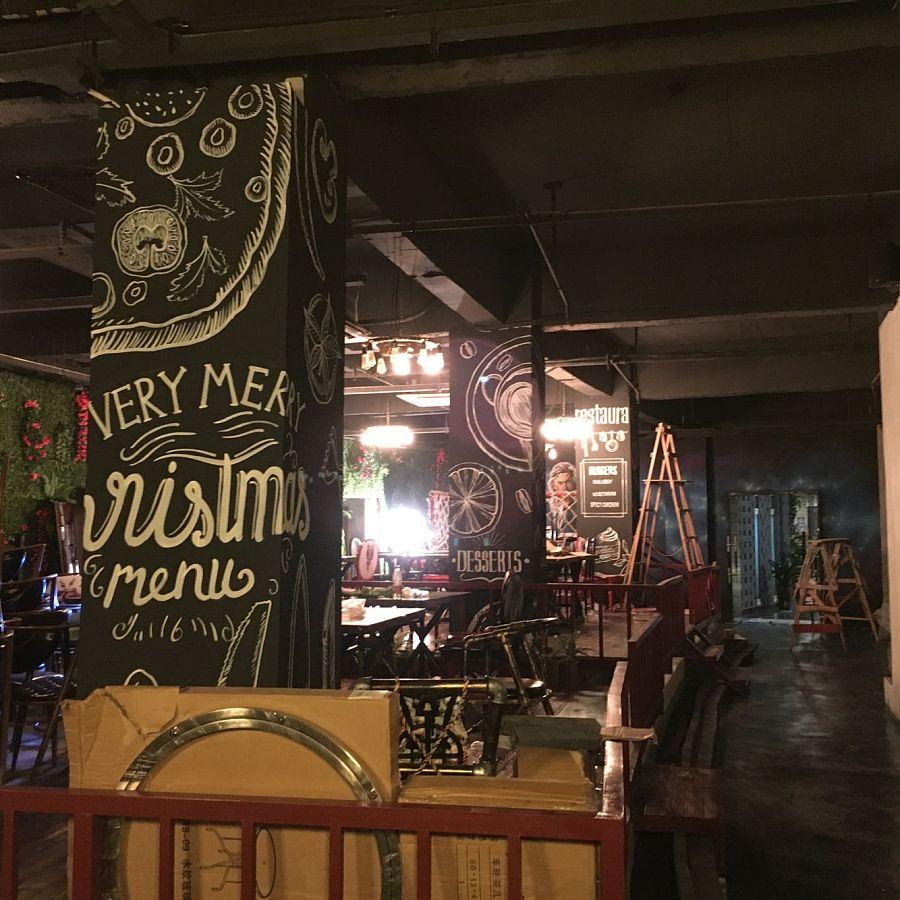 餐厅墙画|墙绘/立体画|其他|懿轩手绘墙 - 原创设计