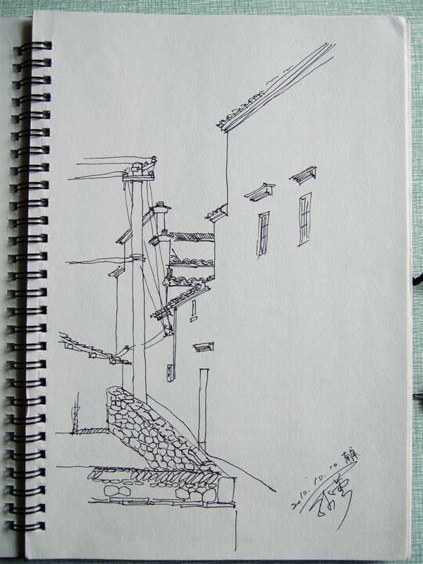 大学时期皖南风景写生(37p)|纯艺术|速写|sunuy