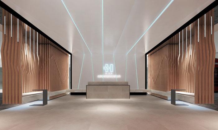 案例v案例办公室装修设计网络效果图|室内庭院设计简约图片