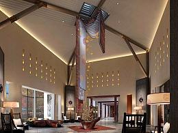 藏式酒店装修设计,藏文化酒店设计