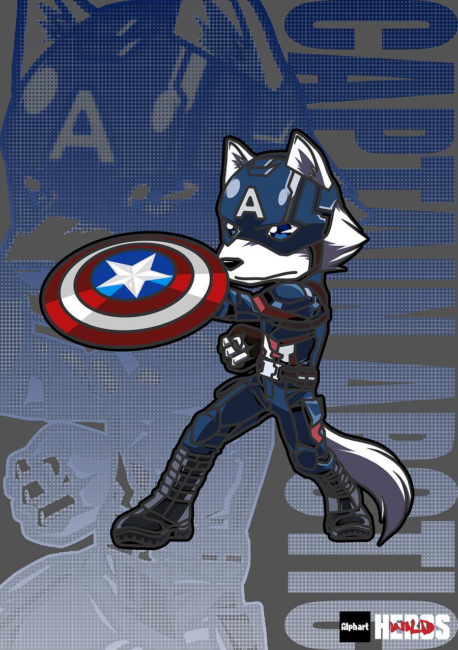arctic wolf×captain america