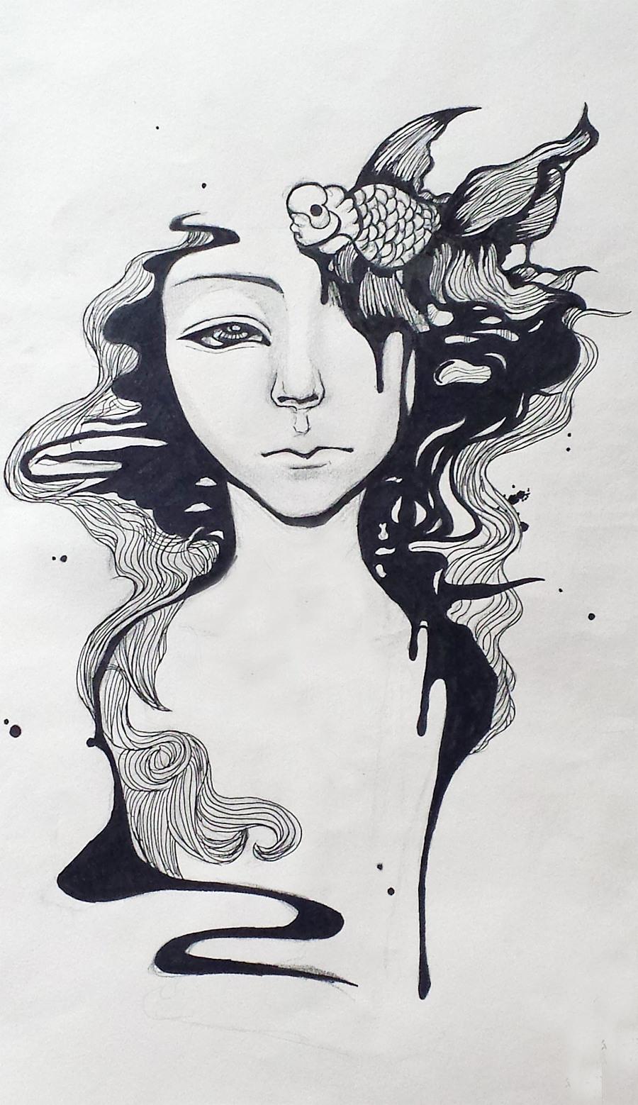 初期手绘概念装饰画