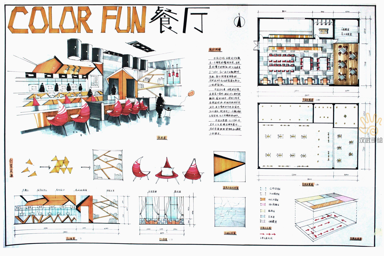 室内设计手绘考研快题模版图片