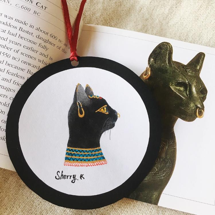 原创作品:手绘猫咪书签