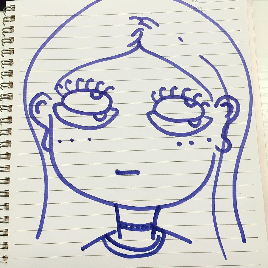 手绘形象翻白眼美少女系列