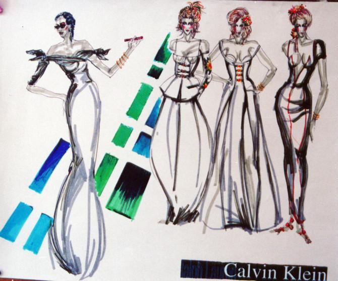 服装设计手绘效果图|休闲/流行服饰|服装|幻影咖啡姐