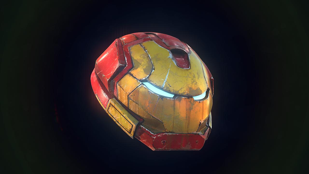 钢铁侠头盔高模