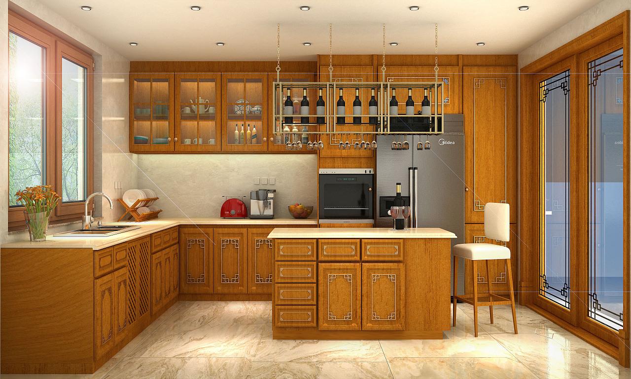 新中式厨房图片