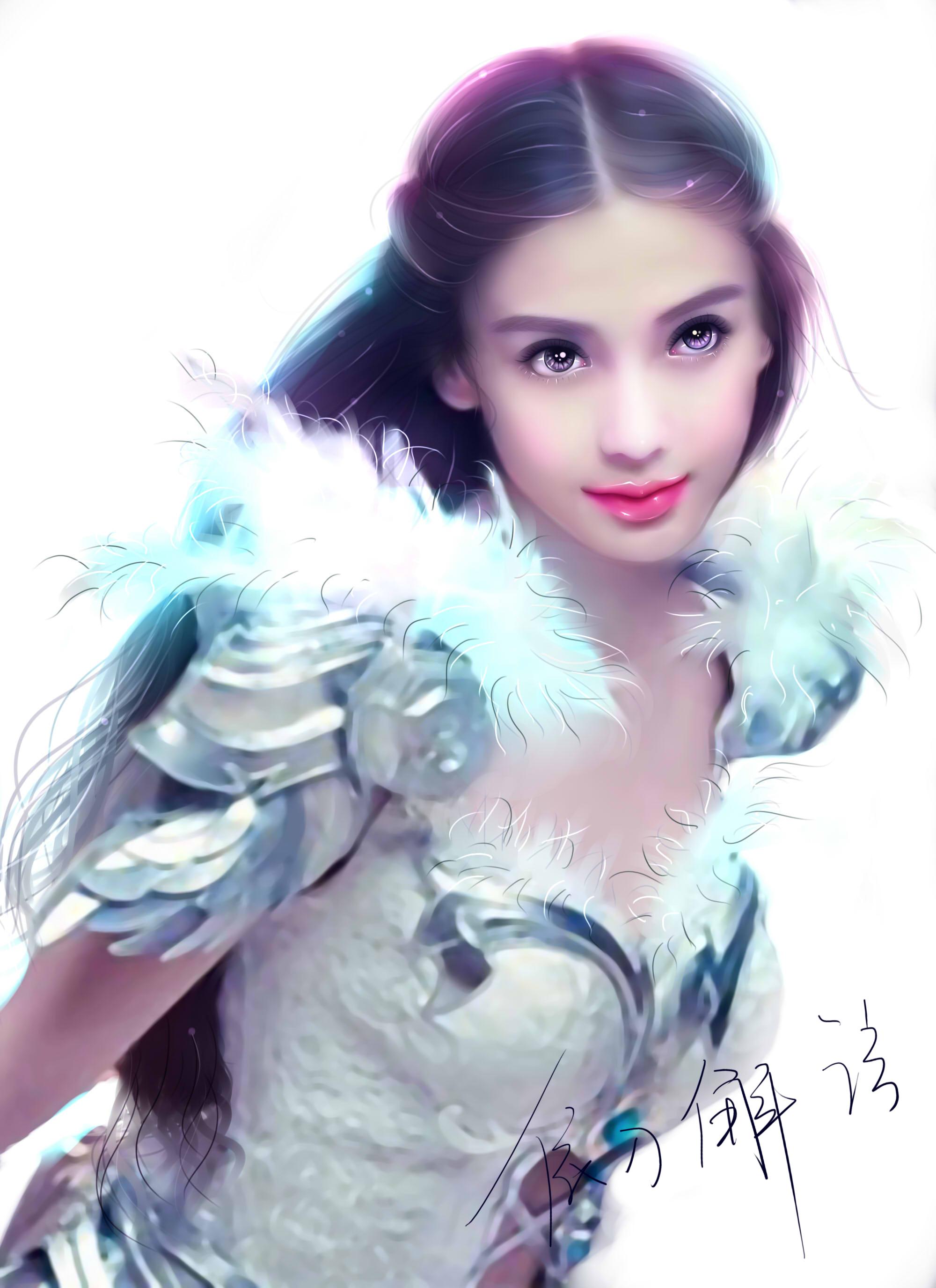 angelababy幸福的女神 转手绘>