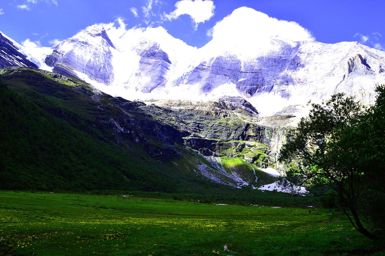 香格里拉之魂亚丁雪山神圣三大丁香圣湖之一纳木措观日出绳结景区结是什么结图片