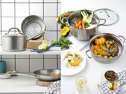 厨房锅具美食拍摄