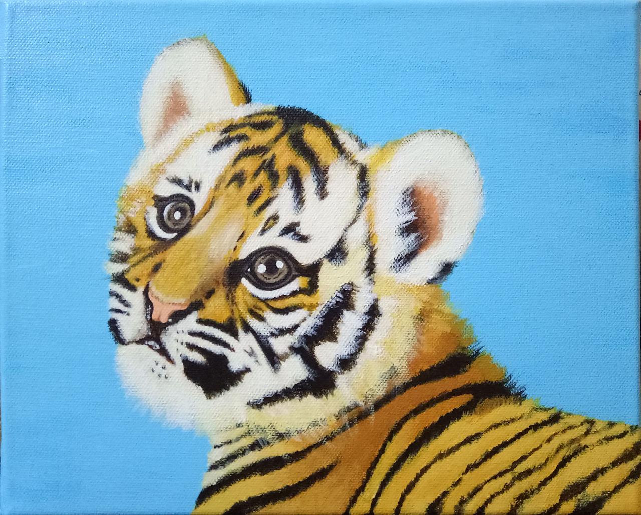 丙烯手绘·小老虎