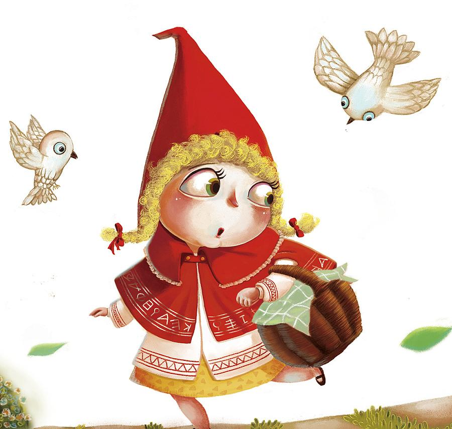图片简笔画-红帽子卡通小女孩图片-小红帽图片动漫-小红帽卡通头像图片