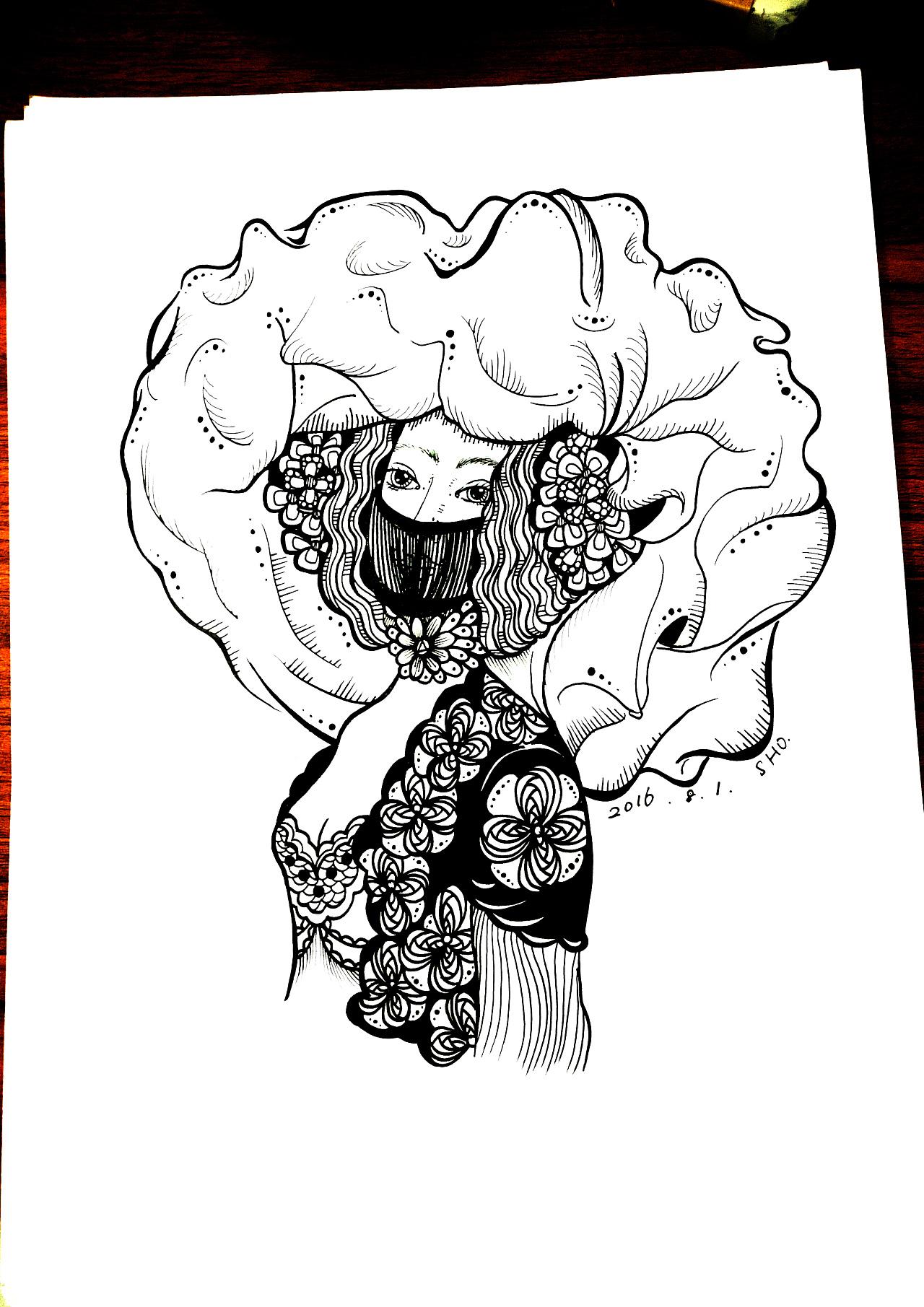 黑白手绘|插画|插画习作|败闹画画呢 - 原创作品