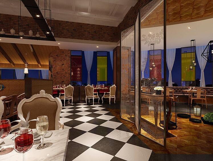 成都餐厅设计 成都花园餐厅设计案例 成都花园餐厅装修案例