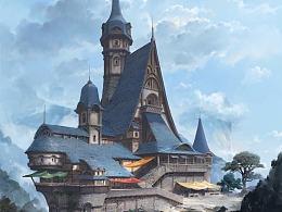 山风与酒馆——欧式建筑设计流程分享