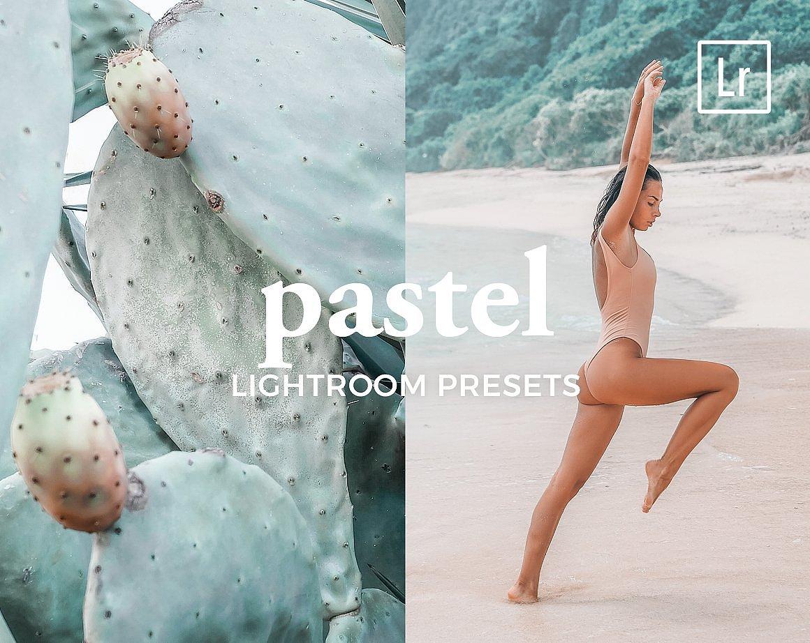 【P340】人像写真粉彩玉兰色LR预设/手机LR预设 4 Lightroom Presets PASTEL