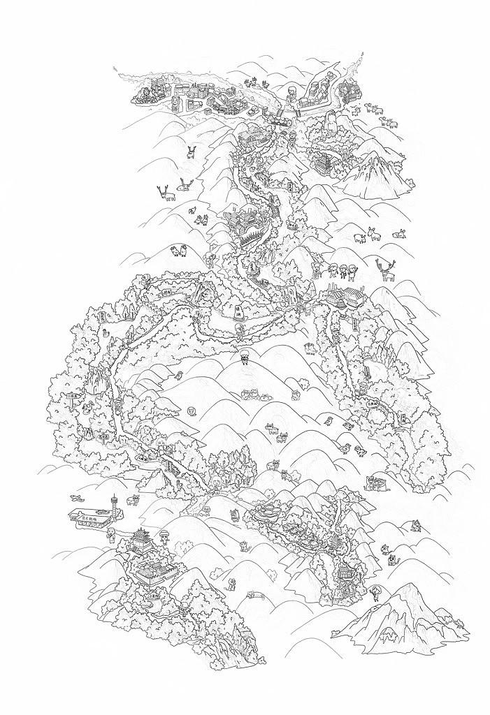 手绘地图|合集二|北京二环天津鼓浪屿长白山九寨沟宜兴