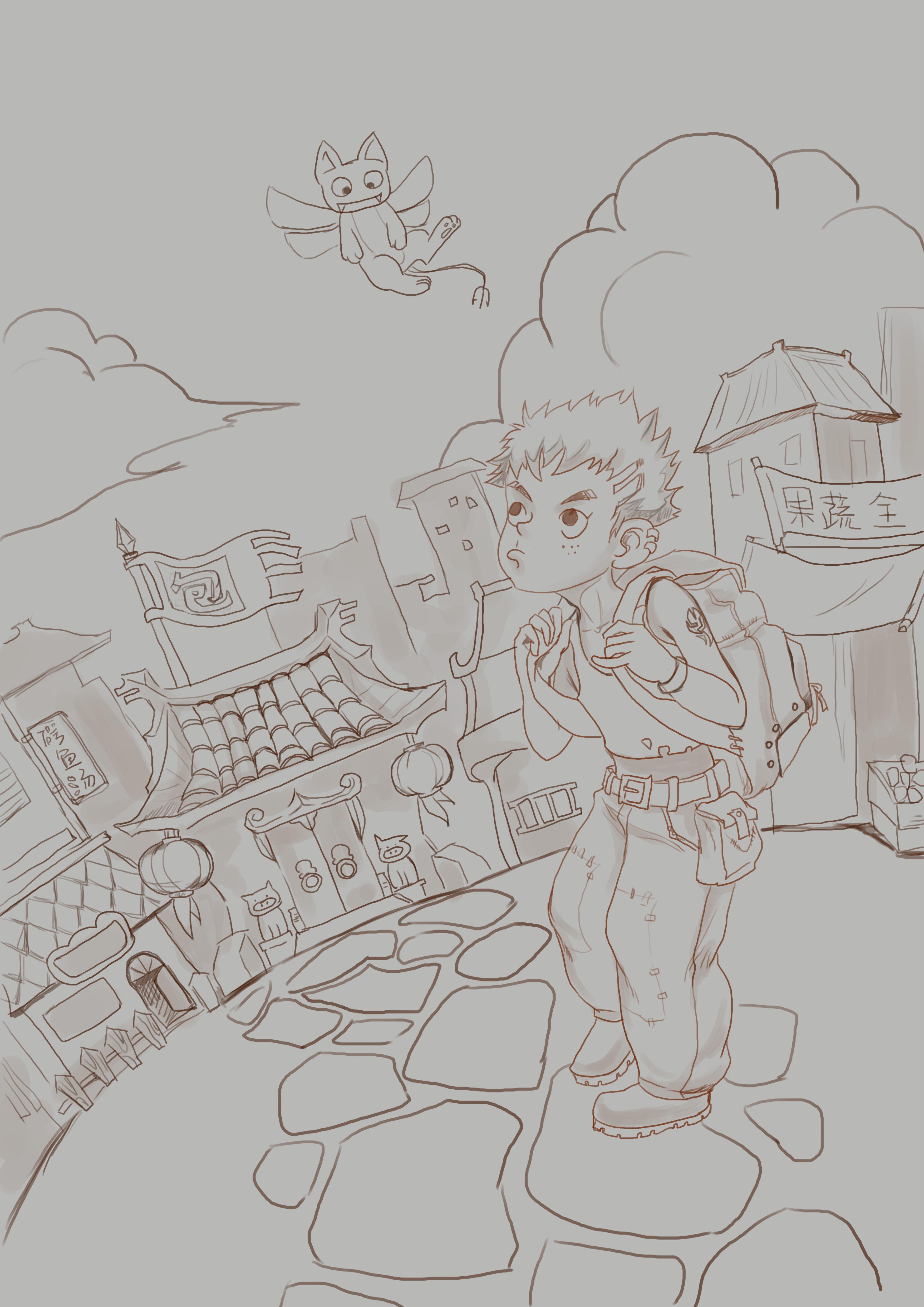 关于旅行的简笔画