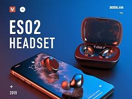 蓝牙耳机等3D渲染+详情X3