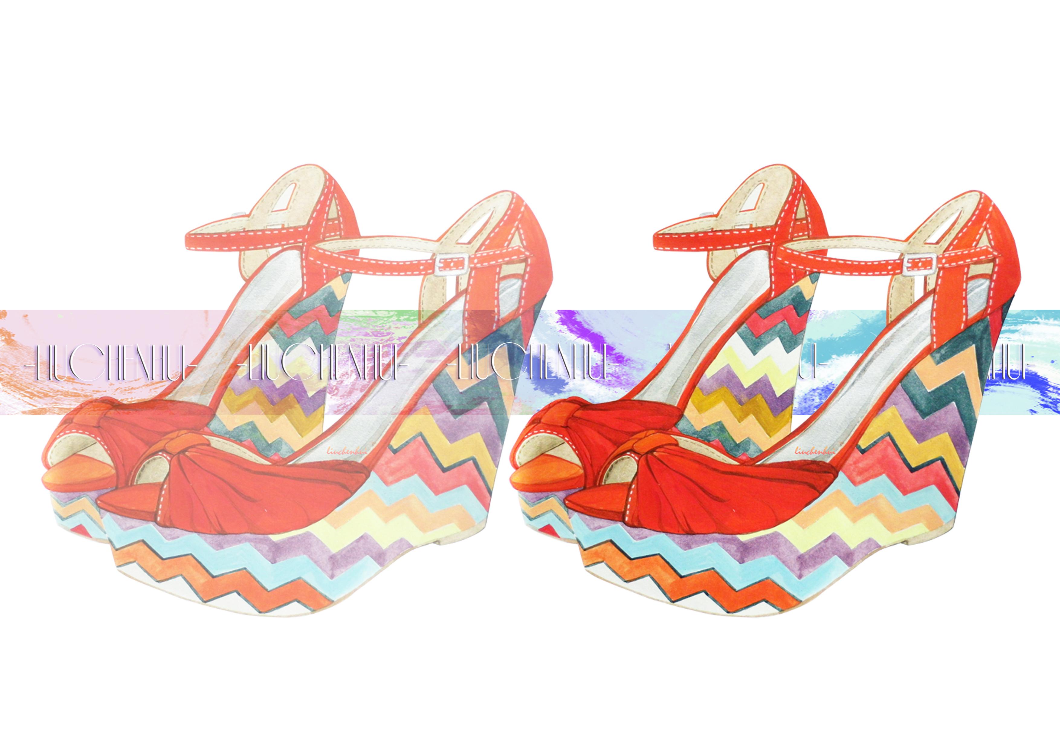 手绘高跟鞋#high heels -2015