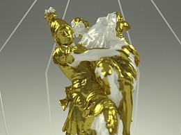 十分钟!教你制作创意黄金质感雕塑