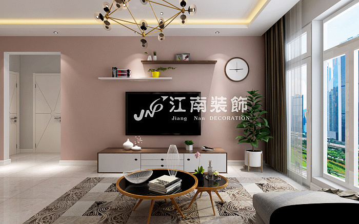 哈尔滨江南装饰公司汇智五洲城北欧风格装修效果图