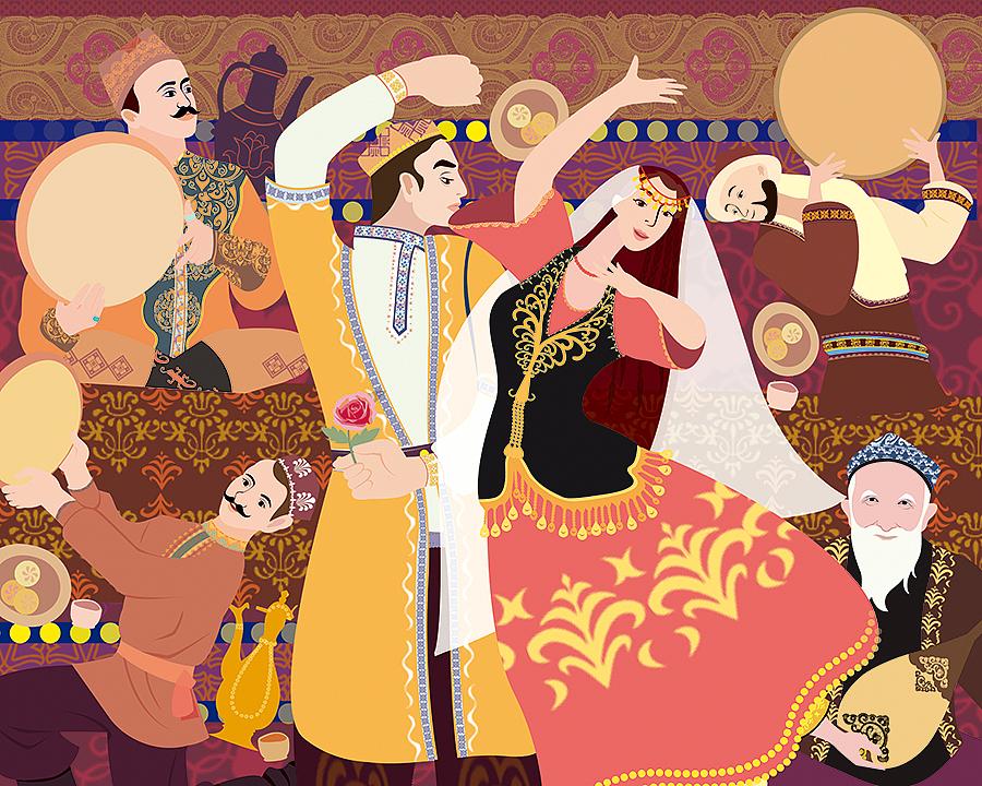 新疆某食品插画