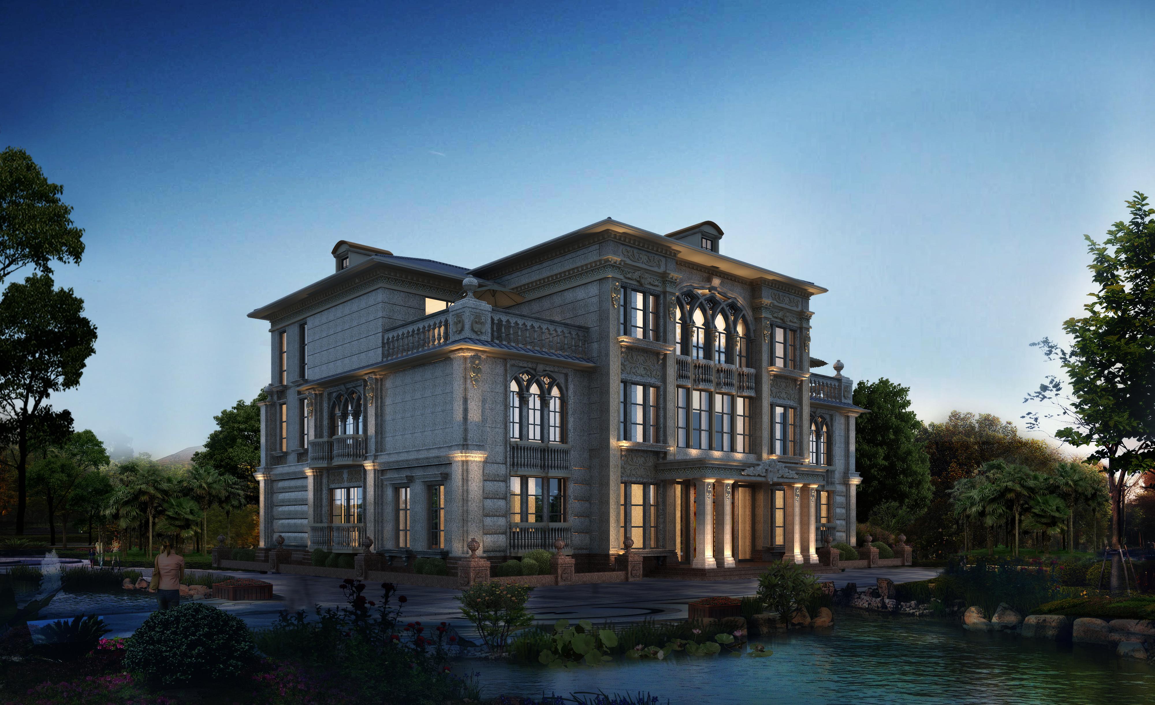 别墅外观论+�yf�ZJ~XZ_私人别墅外观设计方案
