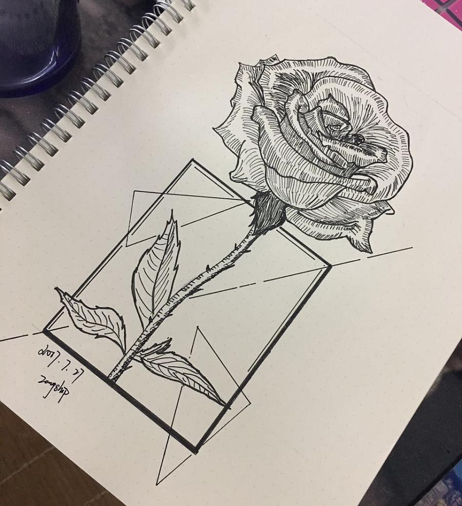 原创作品:针管笔手绘