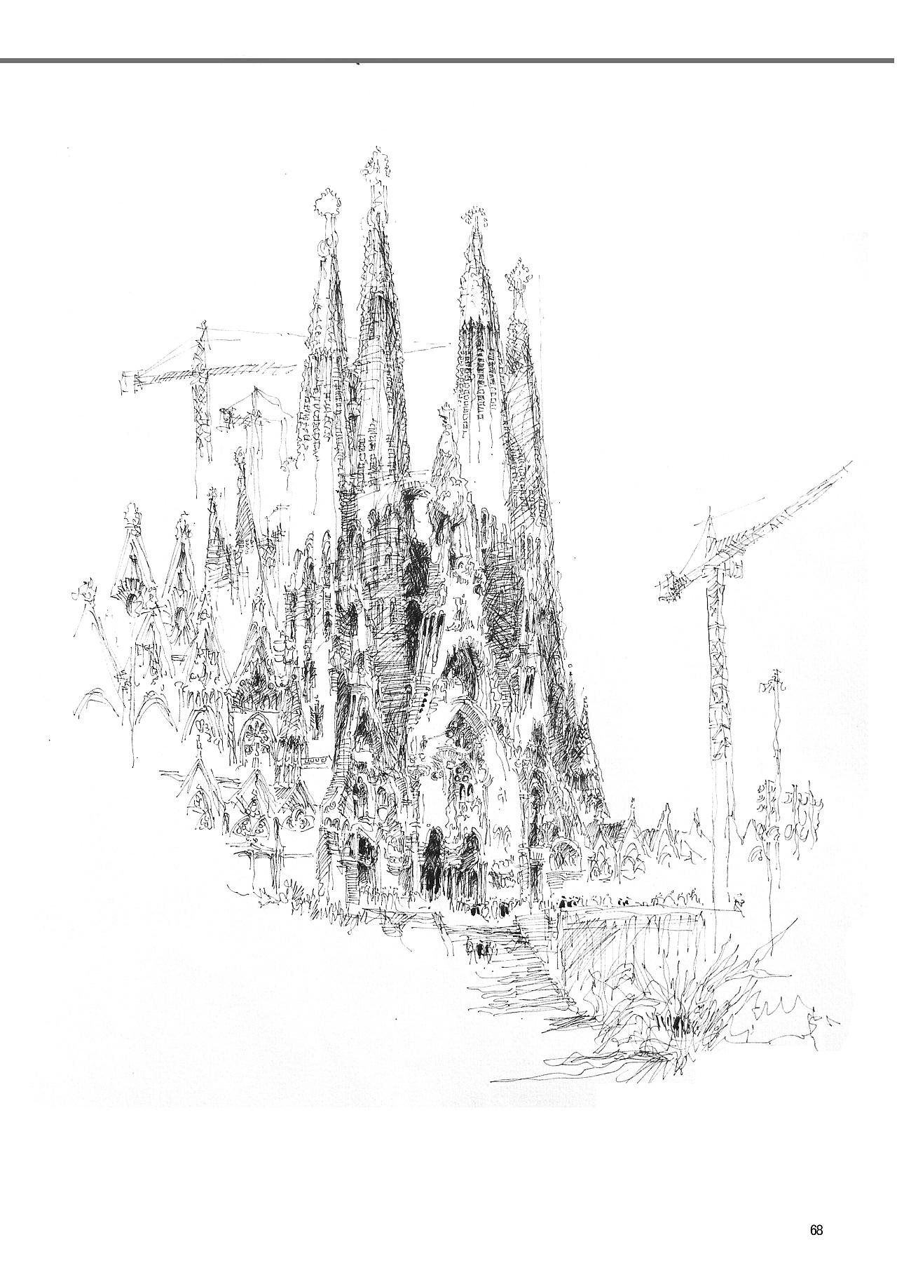 建筑手绘线稿|空间|景观设计|艺鸣design - 原创作品