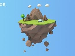 低多边形小岛