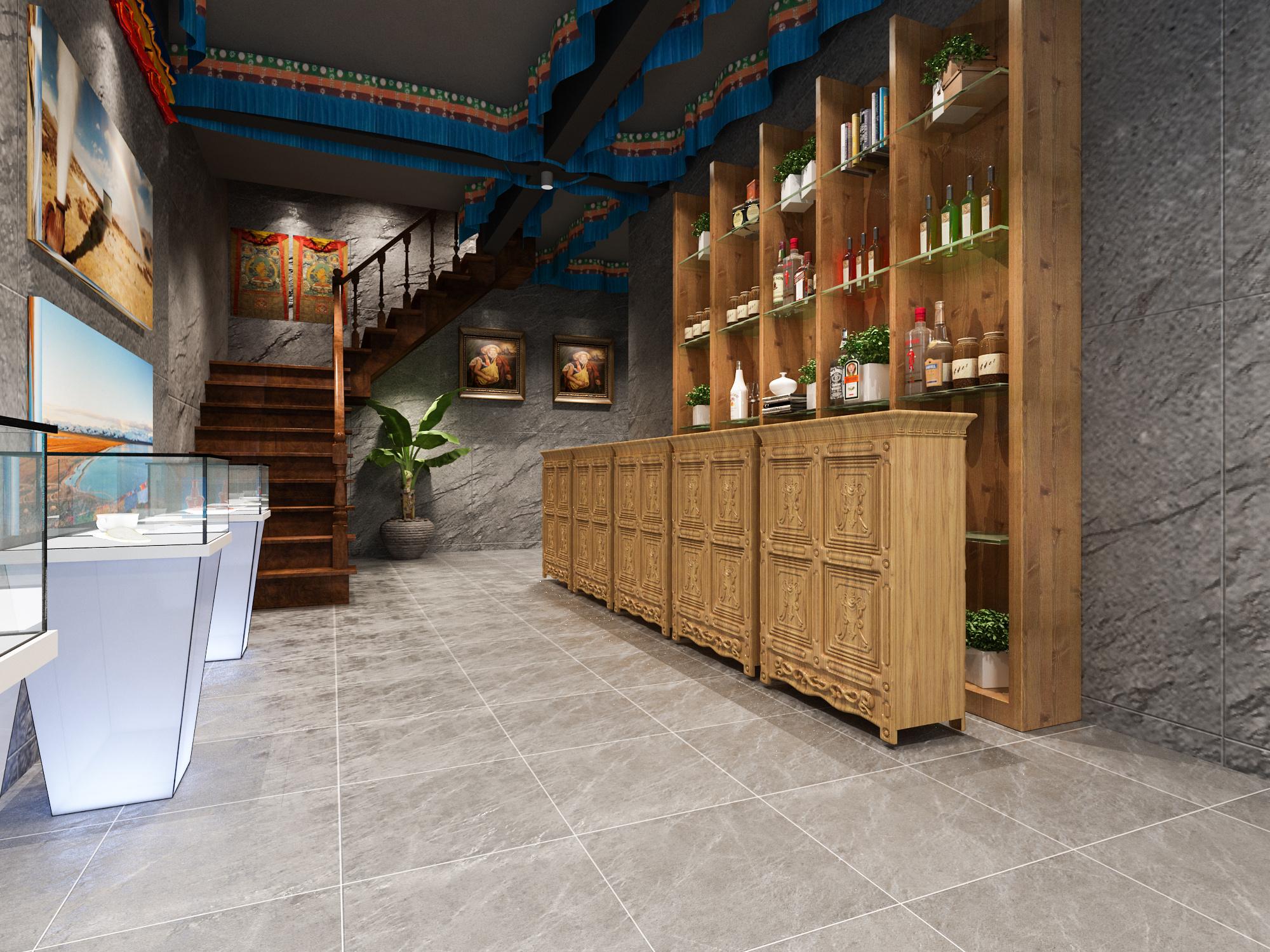 1992效果图--藏族风格餐厅|空间|室内设计|1992效果图图片
