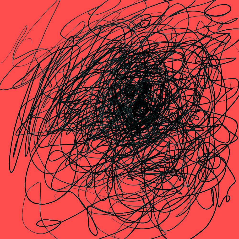 心情烦躁手绘图片