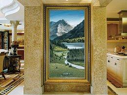 我的原创风景画作品《大山的呼唤》