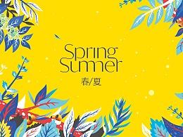 春夏品牌插画