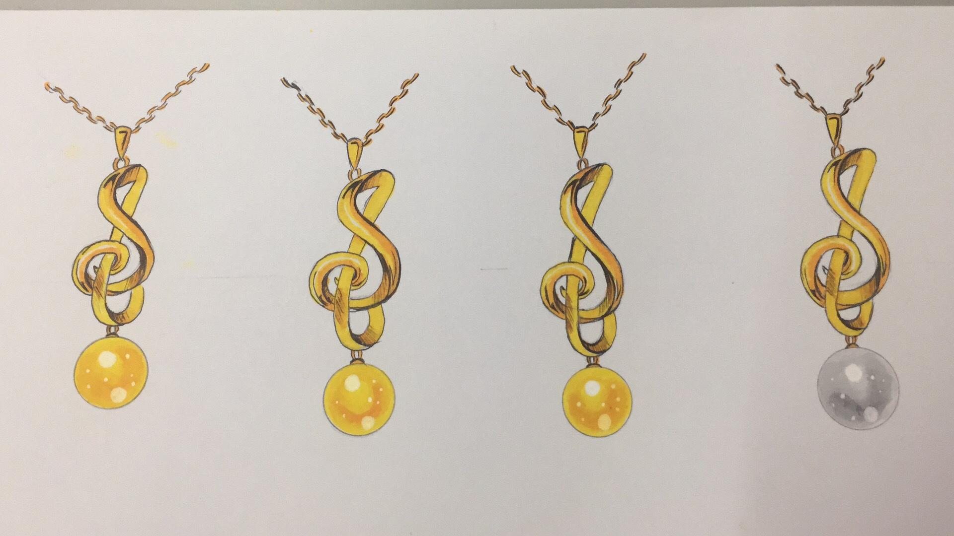 珠宝手绘临摹及设计