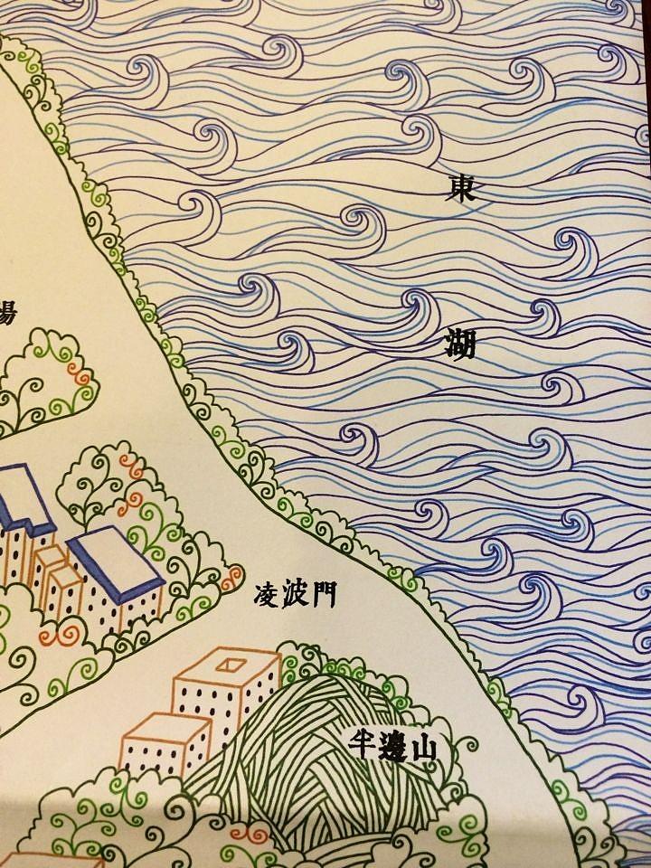 樱--武汉大学手绘地图