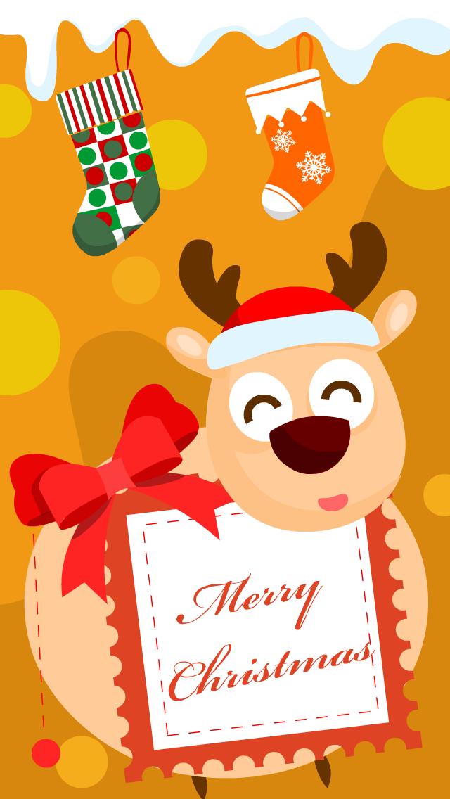 原创作品:呼呼-圣诞节手机壁纸