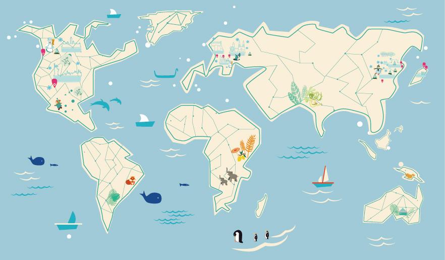 原创设计 世界地图