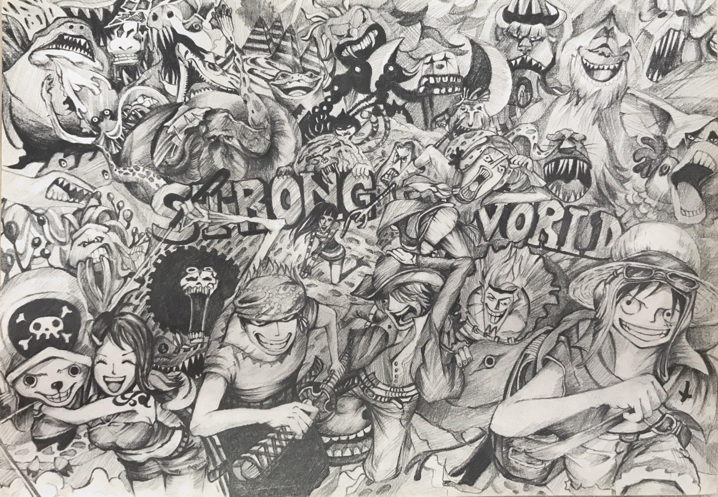 铅笔画海贼王