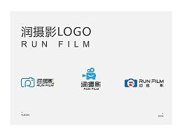 润摄影LOGO的三种设计稿件