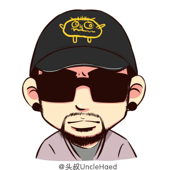 中国有头像风景|肖像|动漫漫画|头叔UncleHead嘻哈漫画情侣图图片
