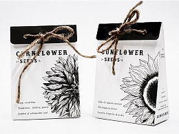 Flower pot carrier and seed packets
