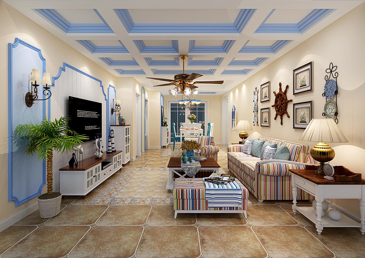地中海效果图作品|空间|室内设计|天斐云歌 - 原创