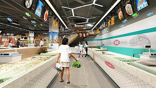 杭州东明综合农贸市场改造设计丨摊位设计丨装修设计丨室内设计— 一图片