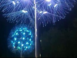 LED芦苇灯仿真蒲公英灯光纤芦苇灯防水景观插地工程灯