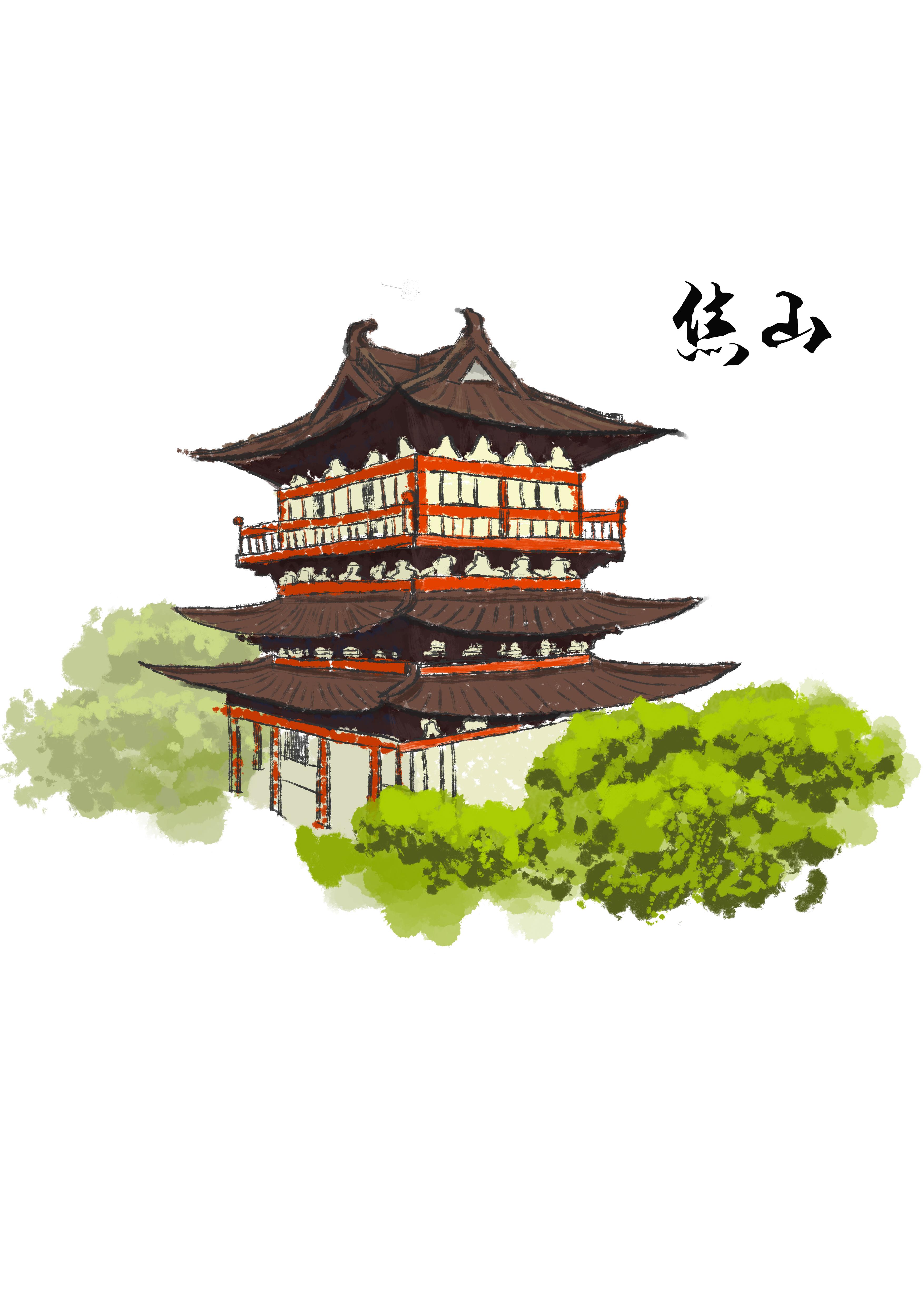 镇江手绘地图