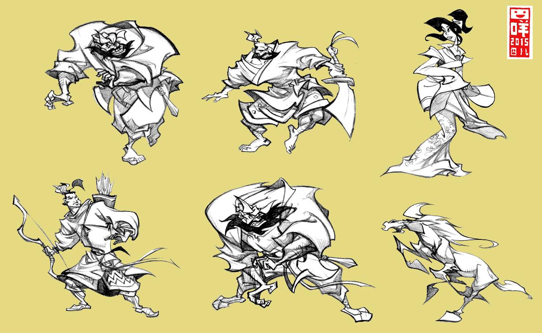 水浒卡通设计 插画 商业插画 杨咩 - 原创作品 - 站酷图片