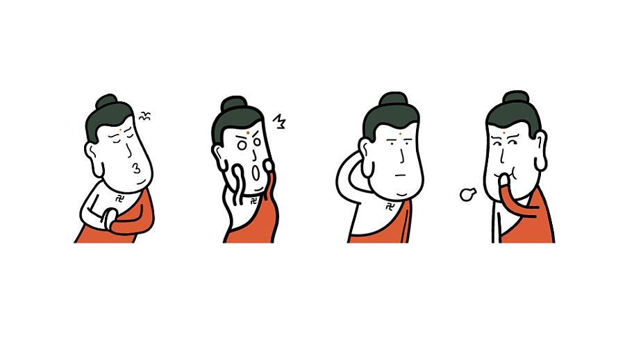 原创微信表情包——老衲老衲图片